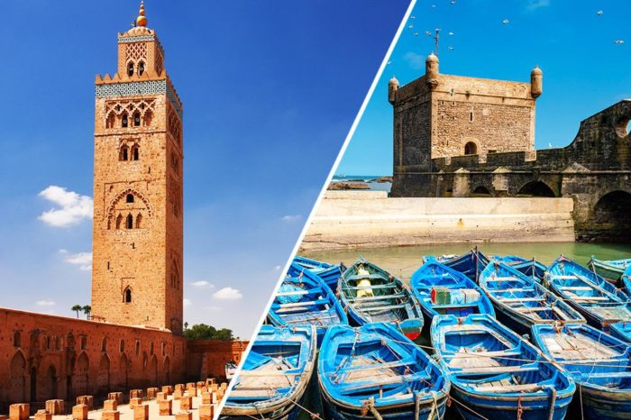 COMBINED TOUR OF MOROCCO ESSAOUIRA & MARRAKECH – 9 Days / 8 Nights